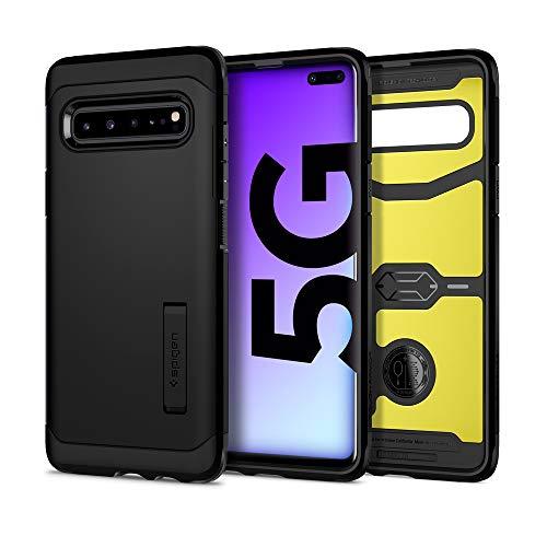 Spigen Tough Armor Hülle Kompatibel mit Samsung Galaxy S10 5G -Schwarz