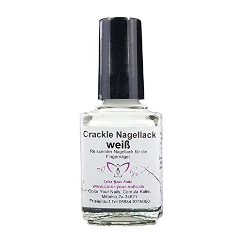 Crackle Nagellack weiß, 6ml reißender Crack Nagellack. (6ml)