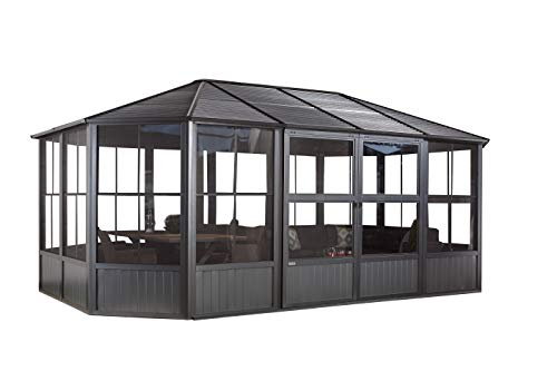 Sojag Aluminium Pavillon, Gartenlaube & Wintergarten Charleston // 384x594x281 cm (LxBxH) // Sommer und Winter Solarium