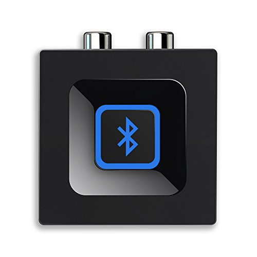 Esinkin Bluetooth Audio Adapter fürs Musik-Streaming-Sound System, Drahtloser Audio Adapter Arbeitet mit Smartphones und Tablets, Bluetooth-Empfänger für Lautsprecher-Schwarz