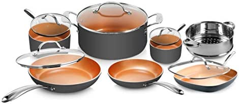 Gotham Steel Pots and Pans Set 12 Piece Cookware Set with Ultra Nonstick Ceramic Coating by product image