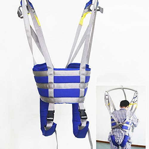 41LJiFKqjPL - Cabestrillo Transferencia Médico Levantar Equipo Paciente para Caminar Honda Transferir Cinturón con Ajustable Altura para Mayor, Mayor Cuerpo Completo Levantador Cuatro Punto Honda