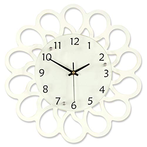 El reloj LINGZHIGAN Blanco Pared De Silencio Números 12/16 Pulgadas Personalidad Ronda Creatividad Grandes Simple Artículos For La Decoración De La Sala De Estar Cocina Casera Oficina