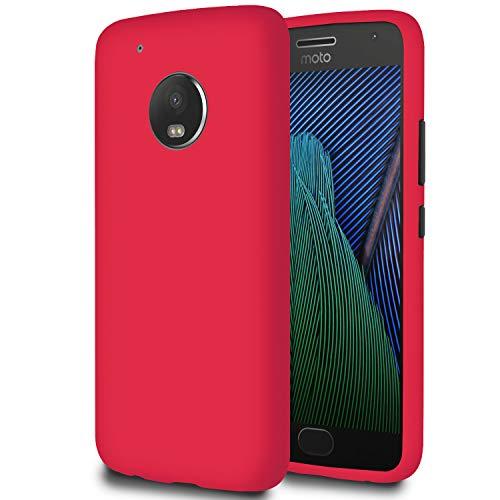 6.49 Custodia Morbida per Motorola Moto G5 Plus | Rosso | Silicone TPU Leggero e