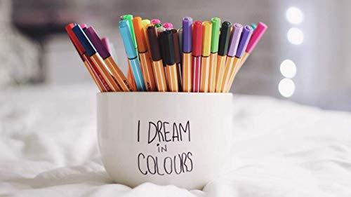 JISMUCI Rompecabezas de bolígrafos Coloridos en la Taza 1000 Piezas de Juguetes de Ocio y Entretenimiento para niños Adultos Rompecabezas de Bricolaje, Rompecabezas de decoración del hogar