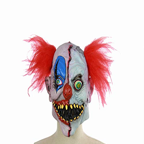 HHMMG Variatie Digitale Clown Masker Latex voor Volwassen Mannen voor Terror Halloween Bar Dans Props Set Latex Masker