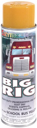 Seymour 20-1686 Big Rig Professional Coatings Spray Paint, School Bus Yellow