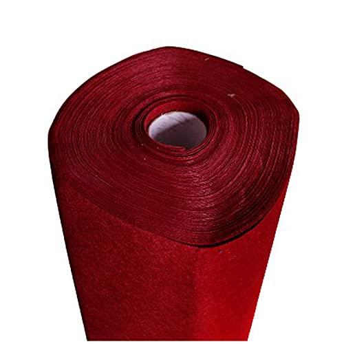ZHAOFENGE-maotan Hojas de Fieltro No Tejido Tela de Fieltro Suave Felt Fabric por Metros 0.85m de Ancho 1mm de Grosor Telas para Coser para Costura y Artesanías de Bricolaje(Color:Vino Tinto)