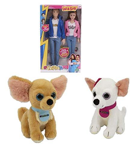 Me Contro Te Fashion Doll - Par de muñecas más pareja de peluche Kira y Ray