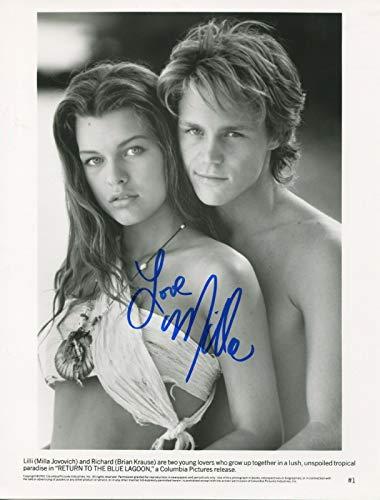 Milla Jovovich Signed Autograph Return To The Blue Lagoon 8x10 Photo With COA PJ
