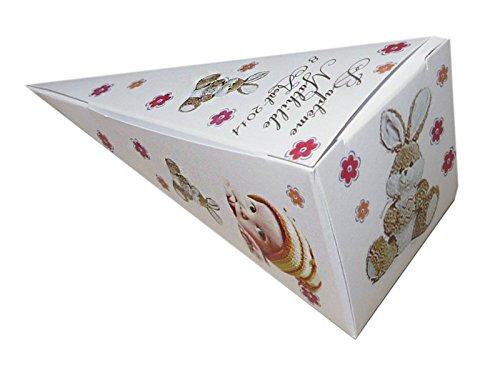lot de 4 Boîte à dragées DOUDOU CONE personnalisée avec votre photo et votre texte pour baptême couleur fuschia et jaune - ballotin à dragées design et moderne