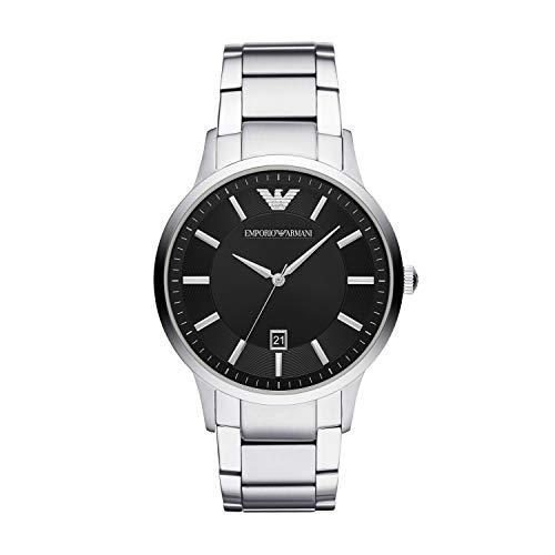 Emporio Armani Herren Analog Quarz Uhr mit Edelstahl Armband AR11181