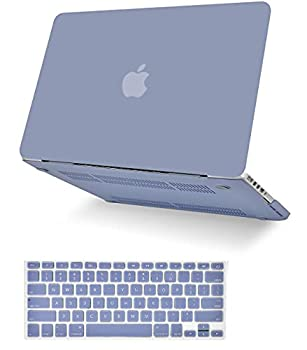 KECC Laptop Case Compatible with MacBook Pro 13   2020/2019/2018/2017/2016  w/Keyboard Cover Plastic Hard Shell A2159/A1989/A1706/A1708 Touch Bar 2 in 1 Bundle  Lavender Grey