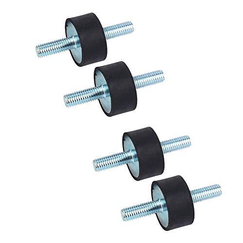 4 PZ M8 Supporto per bobina in gomma Supporti anti vibrazione Supporti isolatore in gomma per ammortizzatori con viti prigioniere doppie