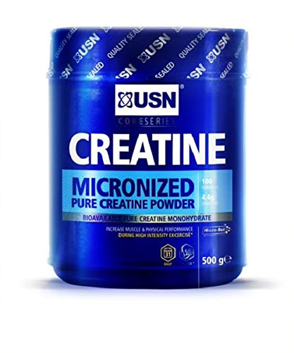 USN Micronized Creatine Monohydrate Powder 500 g: Energy Boosting Pre Train and Recovery Powder