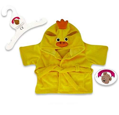 Build Your Bears Wardrobe-15 cm-Vestiti per Orsetto Appendiabiti a Forma di Anatra, Colore: Giallo