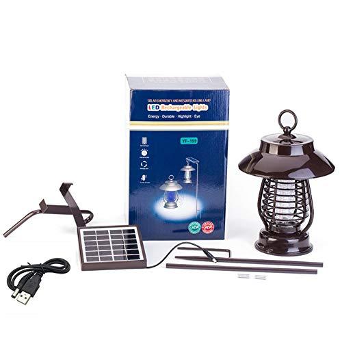 QXHELIU lamp tegen muggen, met uv-licht, muggenval, zonder geur en stil, verwijdert de vliegen, kostuum voor veranda, buiten, binnenplaats, erf