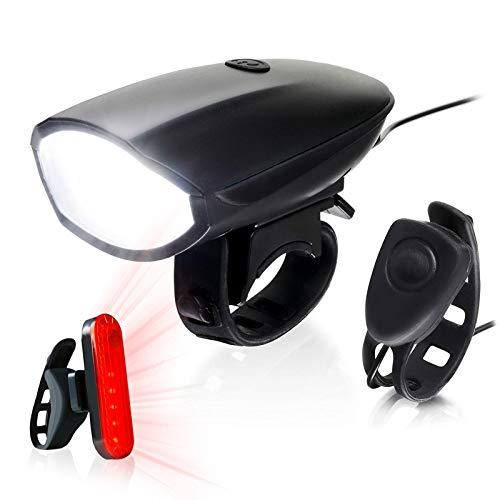 Soontrans Set de Luces Bicicleta LED Delantera y Trasera Luz Bicicleta Recargable USB IP65 Impermeable 4 Modos para Ciclismo de Montaña y Carretera