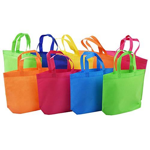 Lot de 10 sacs fourre-tout non tissés avec poignées