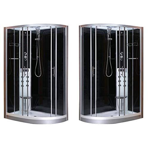 Bagno Italia Cabina Idromassaggio 80x120 box doccia versione destra o sinistra sistema quick line 6 getti I