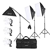 Andoer 2400W Lighting Kit, Photography Studio Continuous Softbox Lighting System Including 12X45W...