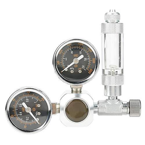 CO2-Druckminderer CO2-Aquarium-Druckregler CO2-Druckregelventil mit 2 Manometern für Aquarium-System
