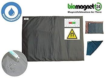 biomagnet24, champ magnétique de thérapie, champ magnétique Tapis de Champ Magnétique Couverture, la thérapie de lit couverture, chat, chat, Taille L 88cm x 42cm dans Anthracite/noir