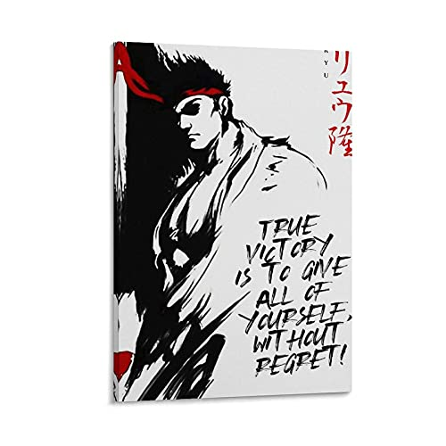 JYTFGDRYJ Impression sur toile Game Is Life Gaming Street Fighter Ryu - Décoration murale moderne pour chambre à coucher - 20 x 30 cm