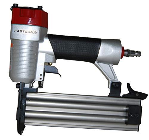 Clavadora Neumática Combi 2 x 1 modelo FASTGUN F50 para puntas con y sin cabeza Tipo 12 (1,2 mm) + 2.000 Puntas + 1 Pistón completo de repuesto + Maletín + Aceite para engrase + Llaves allen