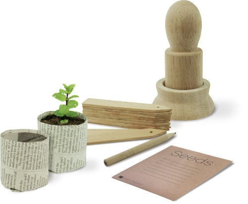 Kit de Plantation avec Pots en Papier et Accessoires