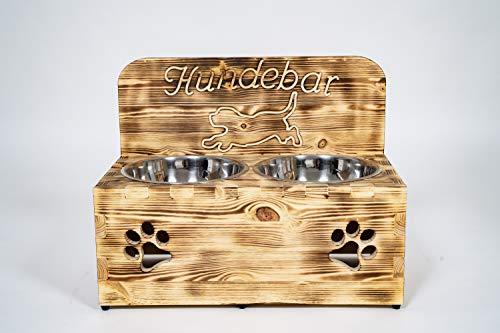 Der Einschneider Hundebar XXL 2x1600mL Erhöhter Futterspender mittlere & größere Hunde mit Spritzschutz/Rückwand