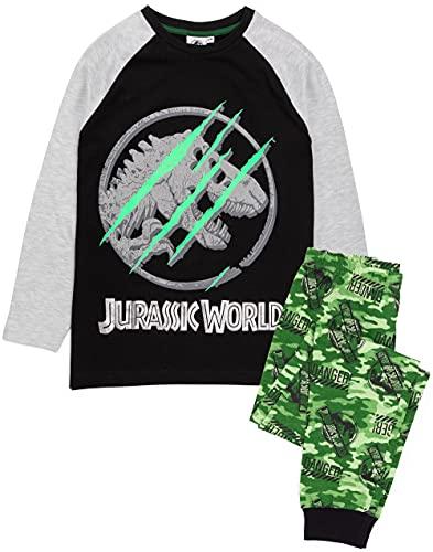 Jurassic World Pyjamas Jungen Kinder Camo T-Shirt Shorts oder Hosenoptionen 11-12 Jahre