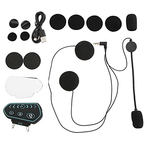Estink Motorradhelm Bluetooth-Headset,Ip67 Kabelloses Wasserdichtes Headset mit Atemlicht,CSR 5.0-Rauschunterdrückung,Freisprech-Headset mit Automatischer Anrufannahme