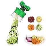 GEQWE Mandolina de Verduras 3 Palas Mano de Verduras Spiralizer, Vegetal Spiralizer Cortador CREA Sin Fin Tallarines del...
