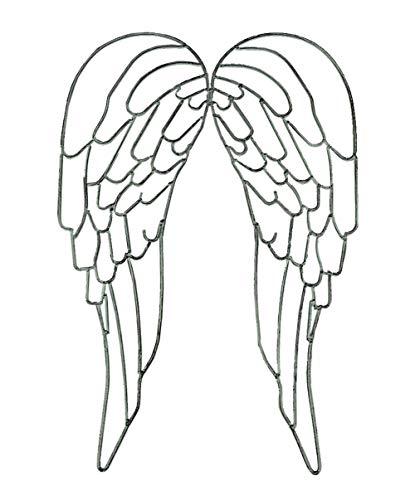 Distinctive Designs Metal Wire Art - Escultura de pared con alas de ángel (63,5 cm)