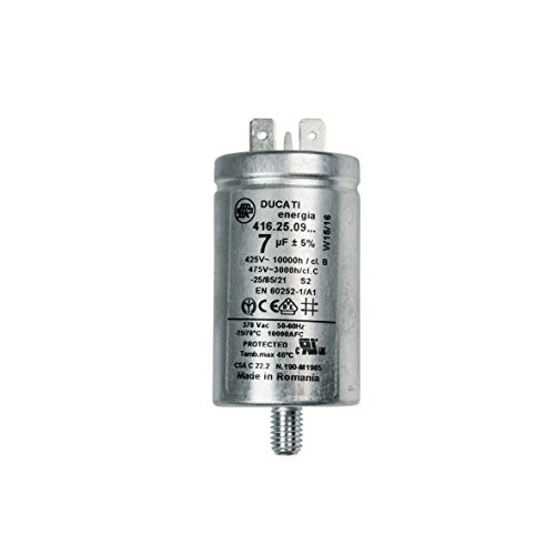 ORIGINAL Candy Hoover 41039164 Kondensator Motorkondensator Betriebskondensator 7µF mit Steckfahnen Waschmaschine