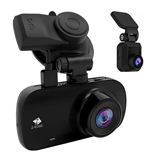 Z-Edge Car GPS Dashcam, FHD 1440P Front and 1080P Rear Dash Cam Dual Lens Video Recording, 2.7inch 150° Wide Angle G-sensor Motion Detection Parking Mode WDR Loop Recording Car Camcorder