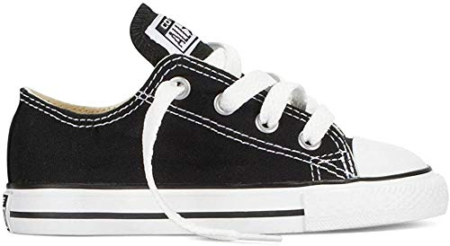 Converse Converse Unisex-Kinder Chuck Taylor All Star Ox Low-Top, Schwarz, 28 EU