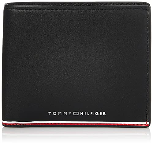 Tommy Hilfiger TH Commuter Extra CC and Coin, Accesorio Cartera de Viaje para Hombre, Black, Talla única
