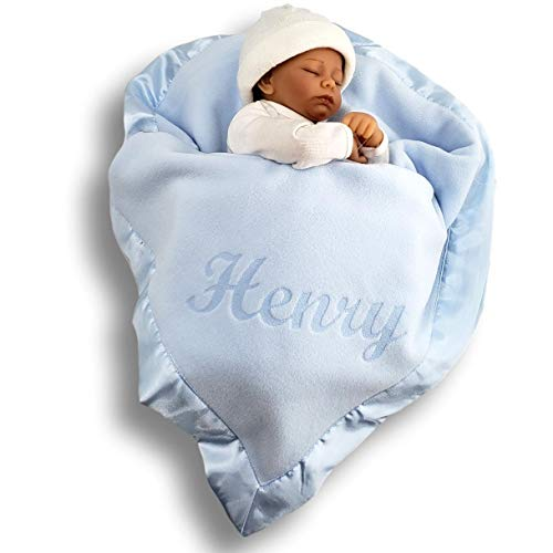 Custom Catch Personalized Baby Blanket for Boys - Blue