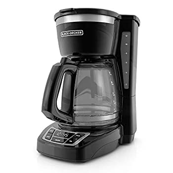 Black+Decker CM1160B-1 CM1160B 12-Cup Programmable Coffee Maker Black/Stainless Steel