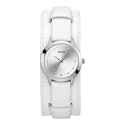 Guess Reloj Analógico para Mujer de Cuarzo con Correa en Piel W1151L1