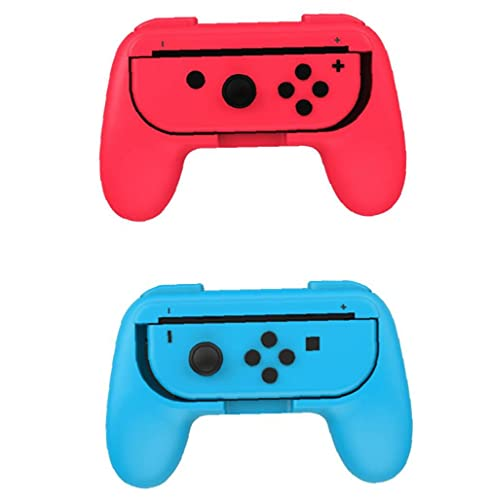 Game Grip Handle Kit for Switch Joy-Con Controller Heatproof Game Mop Great Touch Handle Attractive Game Handle 1pc Red and Blue