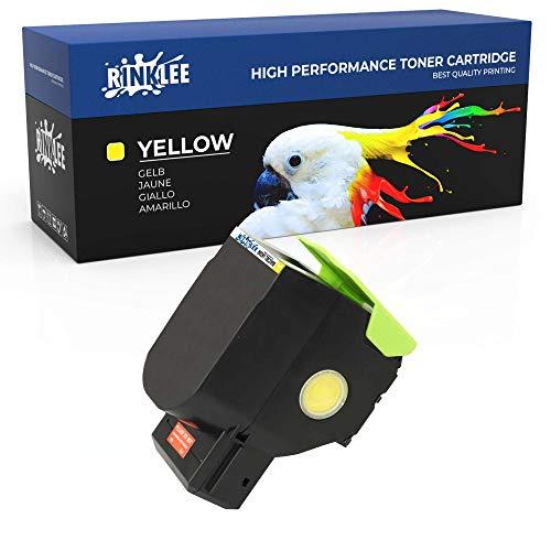 RINKLEE 802H 802HY 70C2HY0 Cartucho de Toner Compatible para Lexmark CX410de CX410dte CX410e CX510de CX510dew CX510dhe CX510dthe | Alta Capacidad 3000 Páginas | Amarillo