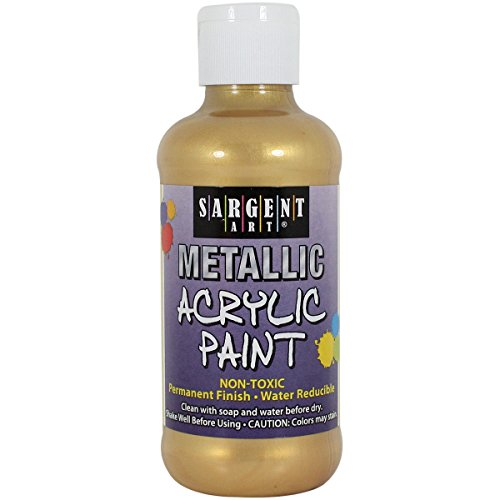 Sargent Art 25-2381 8-Ounce Metallic Acrylic Paint, Gold