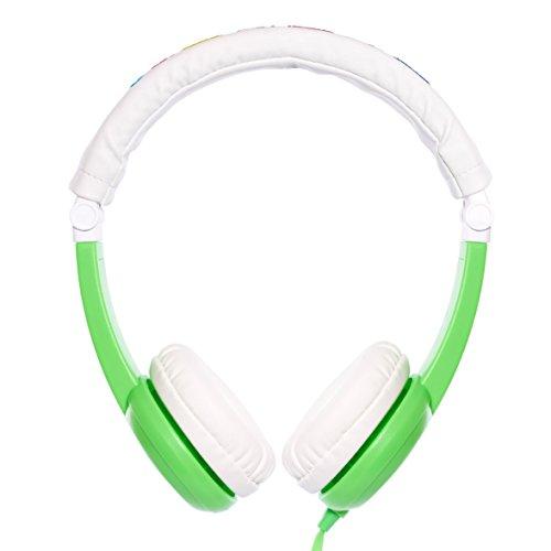 【日本正規代理店品】Onanoff Foldable BuddyPhones with BuddyCable (子供の耳にやさしい音量制限構造 / 折り畳み可能 / ポーチ付) グリーン BP-GREEN-FD