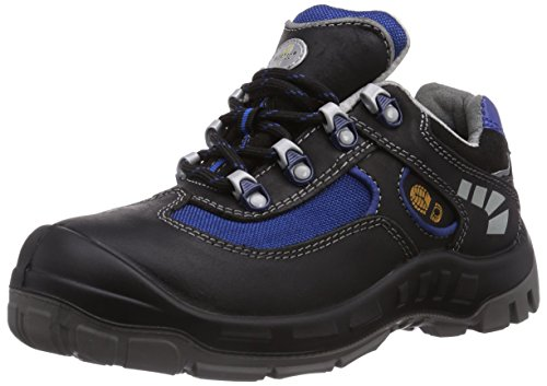 Wortec Unisex-Erwachsene JAZEK S2 Sicherheitsschuhe, Schwarz (schwarz/blau), 41