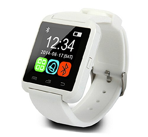 Best to Buy Newest verstion Bluetooth Smartwatch U801 U -Smart Watch for iPhone 6/puls/5S Samsung S4/Note 3 HTC Android Phone etc, Smartphones Android Wear (White)