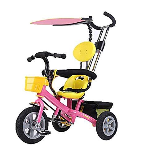 Hejok Laufrad Baby, Kinderfahrradbaby-Dreirädriges Laufkatzenkinderfahrradkinderdreiradfahrrad, Pink