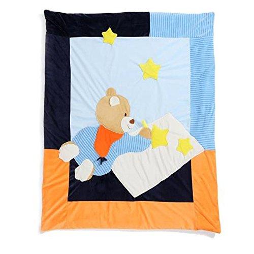 JYSPORT Baby Quilt Kinder Bettdecken 4-Seasons Decke Cartoon Infant Duvet Kindergarten Vierjahreszeitenbett (Blue)